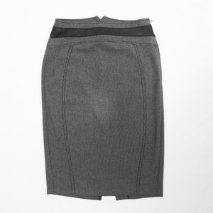 High Waist Gray & Black Pencil Skirt